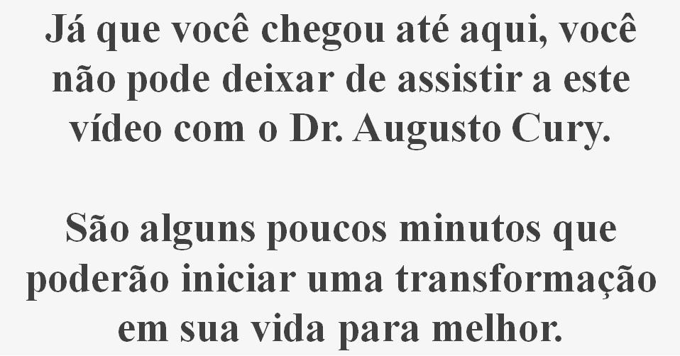 texto-âncora para curso gerenciamento da ansiedade dr augusto cury